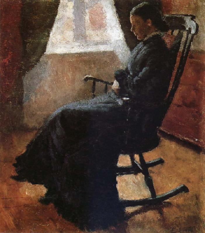 Edvard Munch Karen auntie sitting a rocking chair