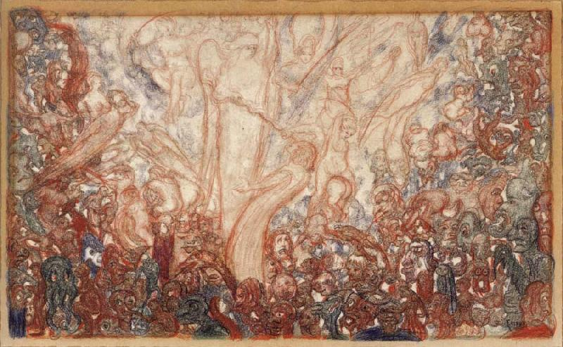 James Ensor The Fight of the Angels and the Demons