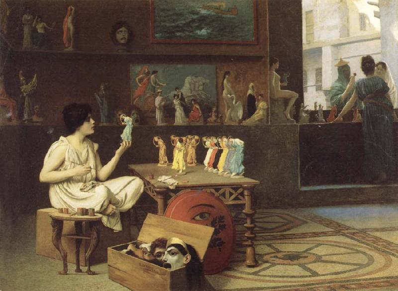 Jean-Leon Gerome Painting Breathes Life Into Sculpture oil painting image