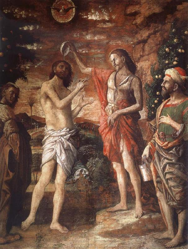 Andrea Mantegna Would baptize Christs oil painting image