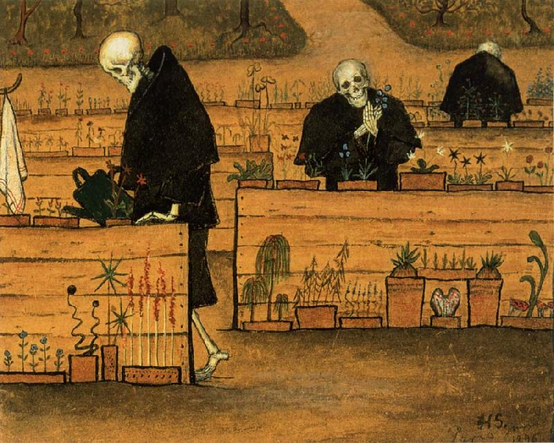Hugo Simberg In the Garden of Death oil painting image