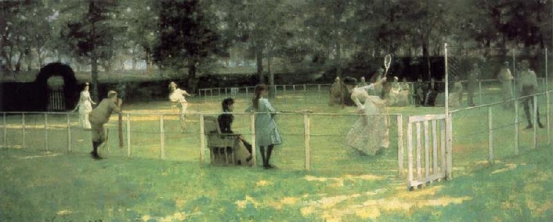 John Lavery THe Tennis Party