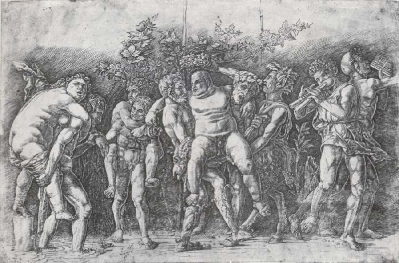 Andrea Mantegna A Bacchanal with Silenus oil painting image