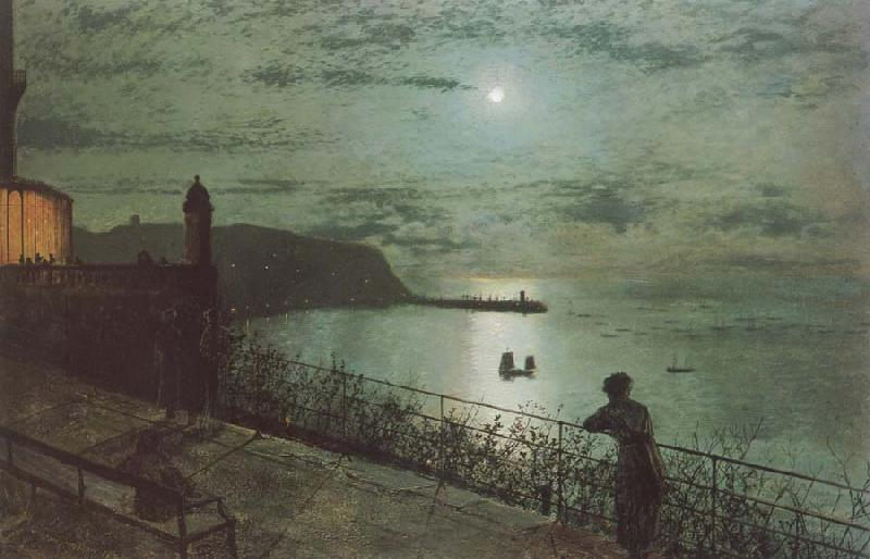 Atkinson Grimshaw Scarborough from Seats near the Grand Hotel oil painting image