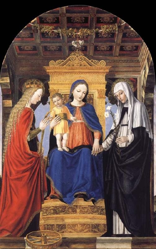 Bergognone The Virgin and Child Enthroned with Saint Catherine of Alexandria and Saint Catherine of Siena oil painting image