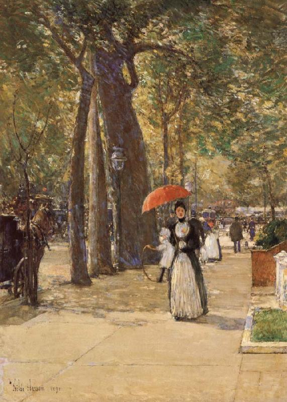 Childe Hassam Die Fifth Avenue am Washington Square