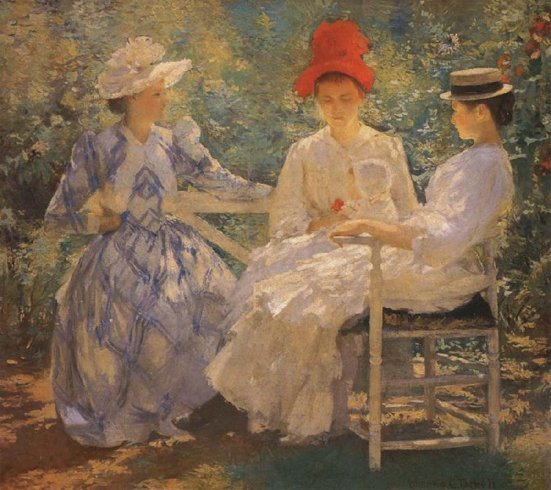 Edmund Charles Tarbell Three Sisters A Study in June Sunlight