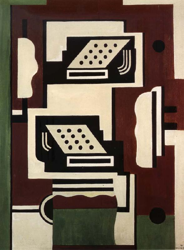 Fernard Leger Composition aux Deux Machines a Ecrire oil painting image