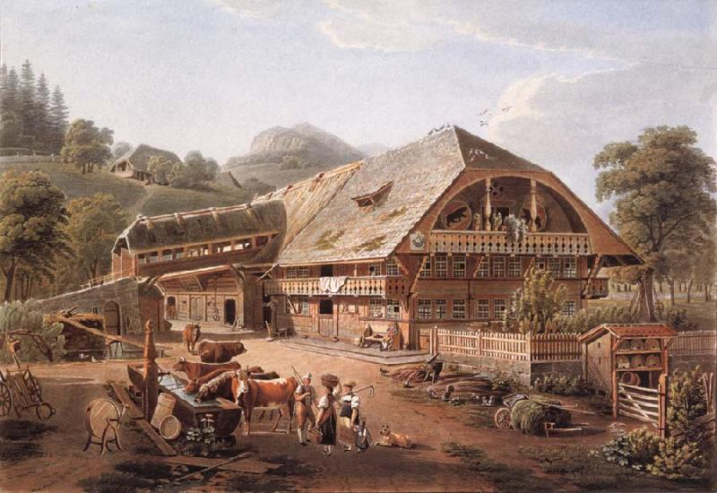 Gabriel Lory fils House of peasants in the vicinity of Bern