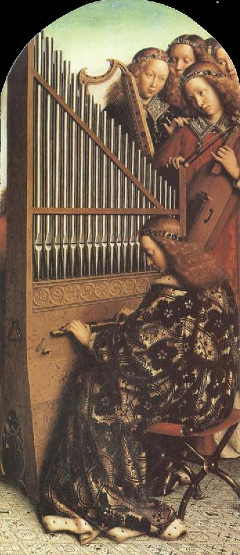 Jan Van Eyck Organ from The Ghent Altarpiece oil painting image