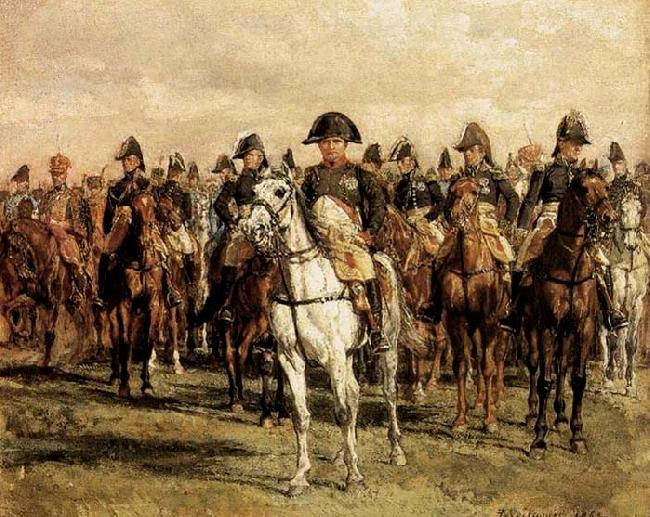 Jean-Louis-Ernest Meissonier Napoleon and his Staff oil painting image