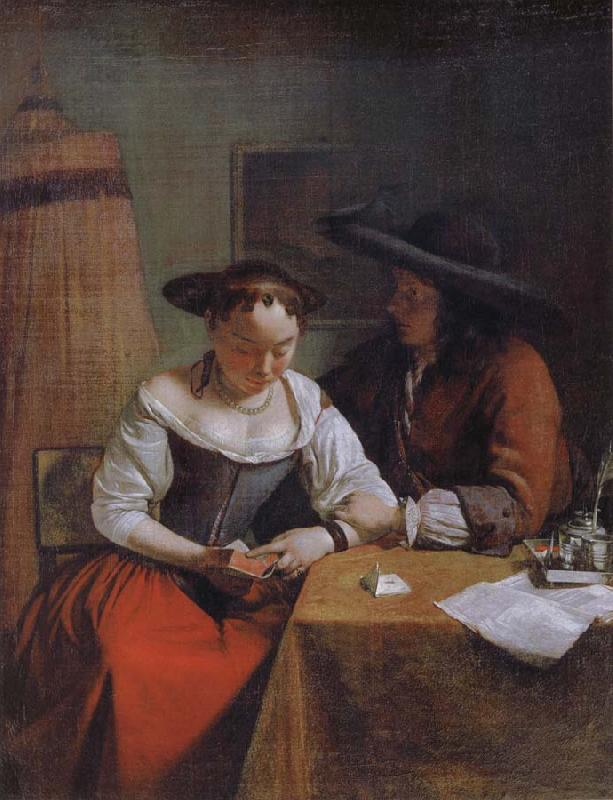 OCHTERVELT, Jacob The Declaration of Love to the Woman Reading