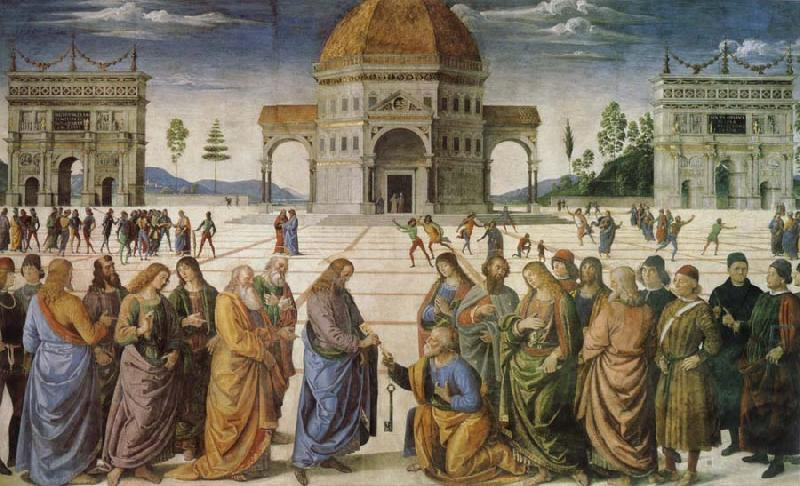 Pietro Perugino Charge to Peter oil painting image