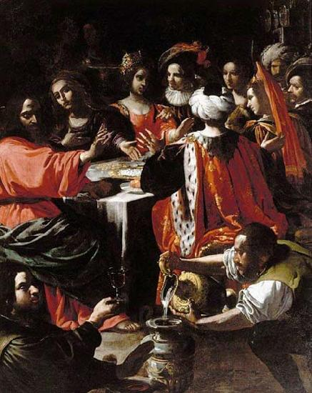 Rutilio Manetti Wedding Feast at Cana oil painting image