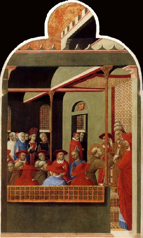 SASSETTA Pope innocent III Accords Recognition to the Franciscan Order oil painting image