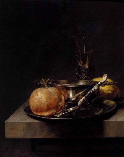 Simon Kick Still-Life with Silver Cup oil painting image