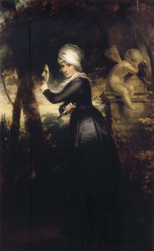 Sir William Beechey Sarah Siddons with the Emblems of Tragedy oil painting image