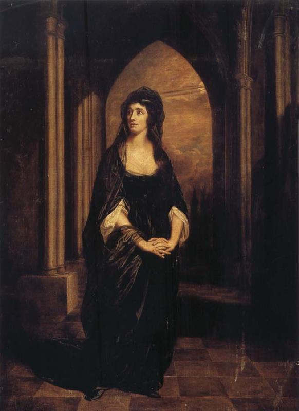 Thomas Beach Sarah Siddons as Melancholy-Il Penseroso oil painting image