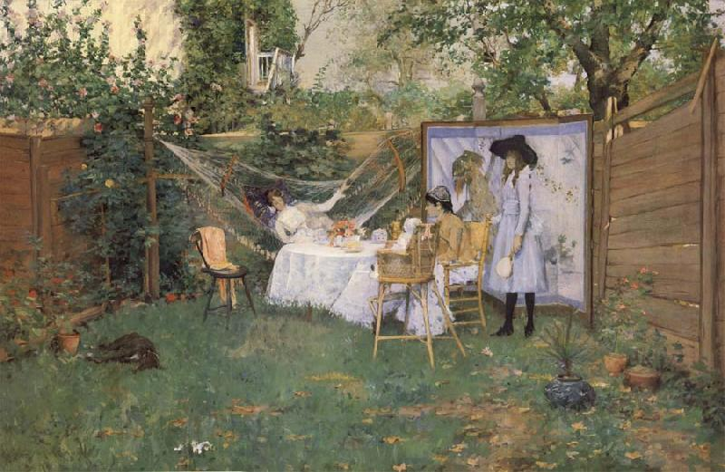 William Merrit Chase Fruhstuck im Freien