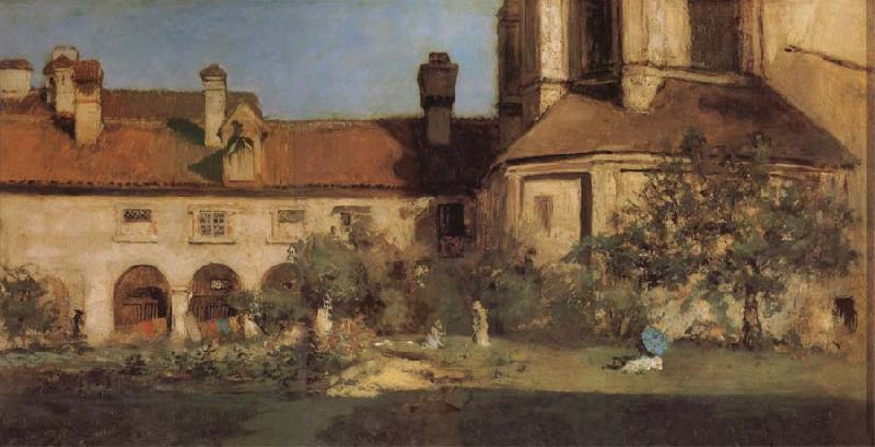 William Merritt Chase The Cloisters oil painting image
