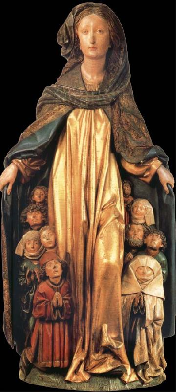 unknow artist The Madonna of the cloak of proteccion