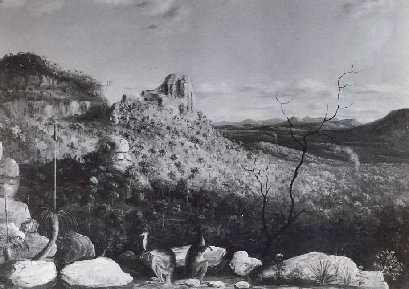unknow artist Landscape with kangaroos in foreground