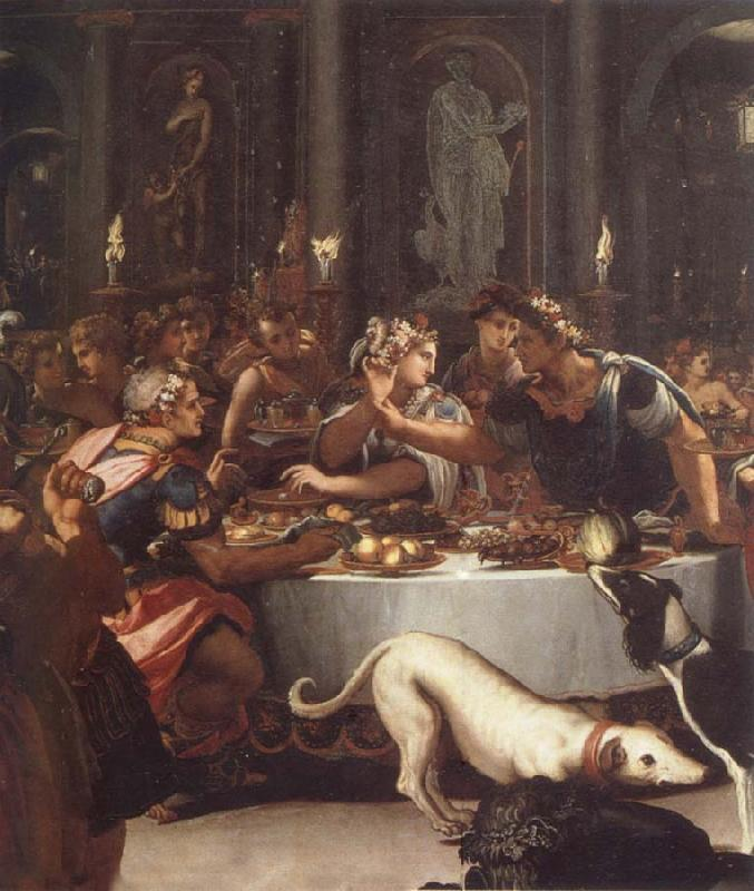 ALLORI Alessandro The banquet of the Kleopatra