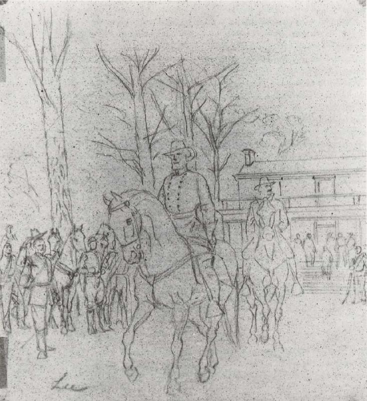 Alfred R. Waud General Lee Leaving Appomattox,April 9.1865 oil painting image