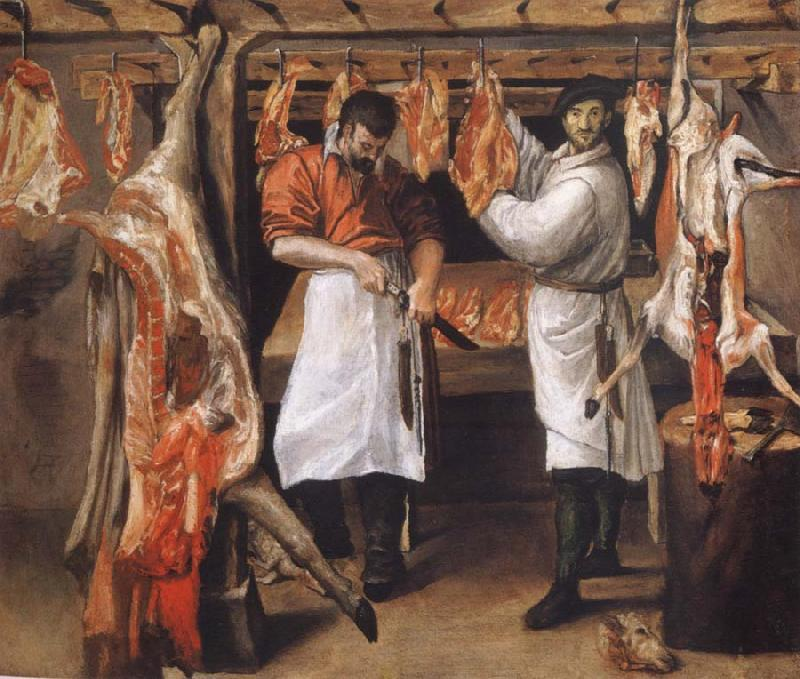 Annibale Carracci the butcher store
