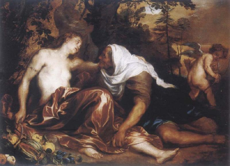 Anthony Van Dyck The funf senses with landscape