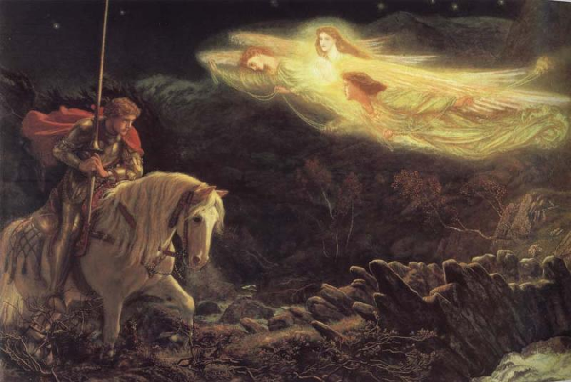 Arthur Hughes The Quest of the Holy Grail