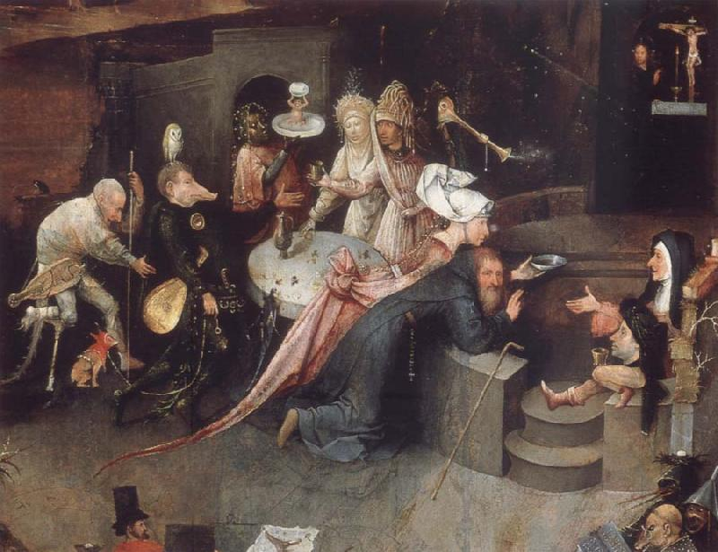 BOSCH, Hieronymus The temptation of the Bl Antonius