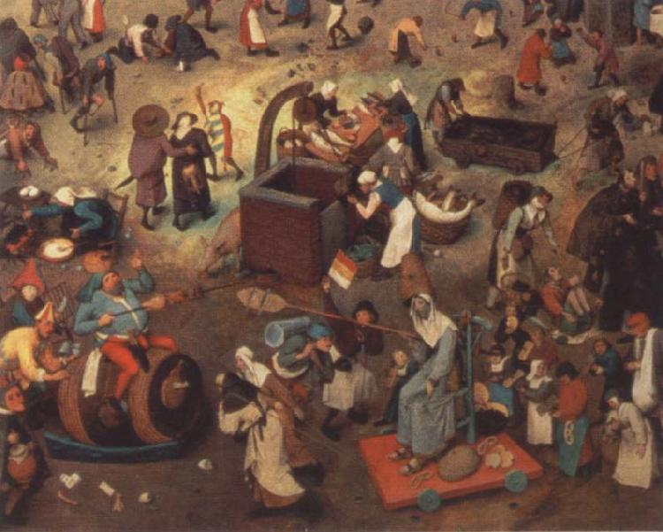 BRUEGEL, Pieter the Elder Battle between carnival and fast