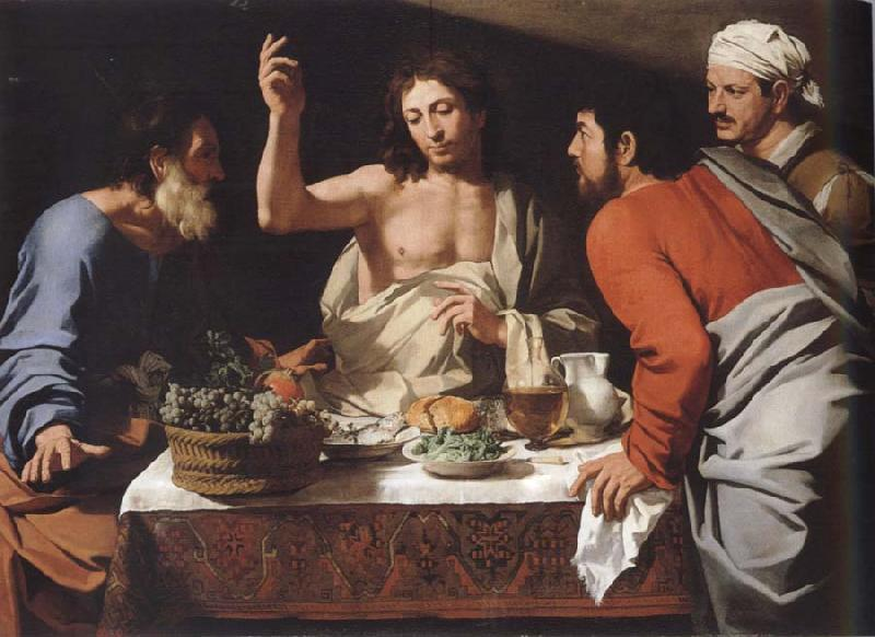 CAVAROZZI, Bartolomeo The meal in Emmaus