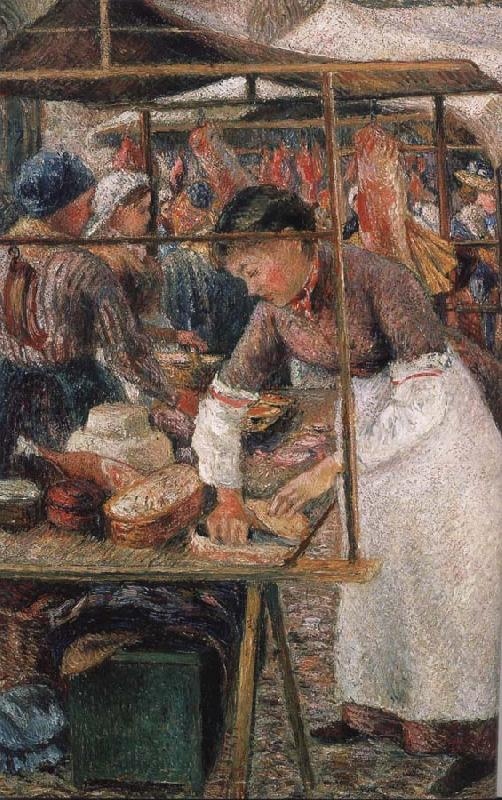 Camile Pissarro the butcher woman
