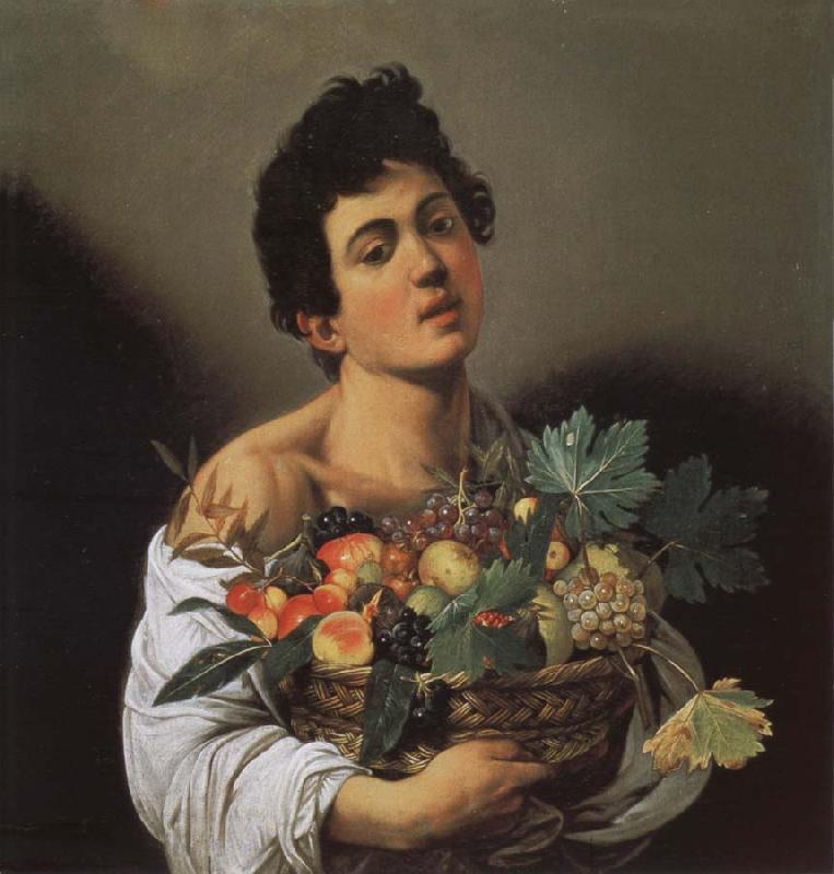 Caravaggio Jungling with fruits basket