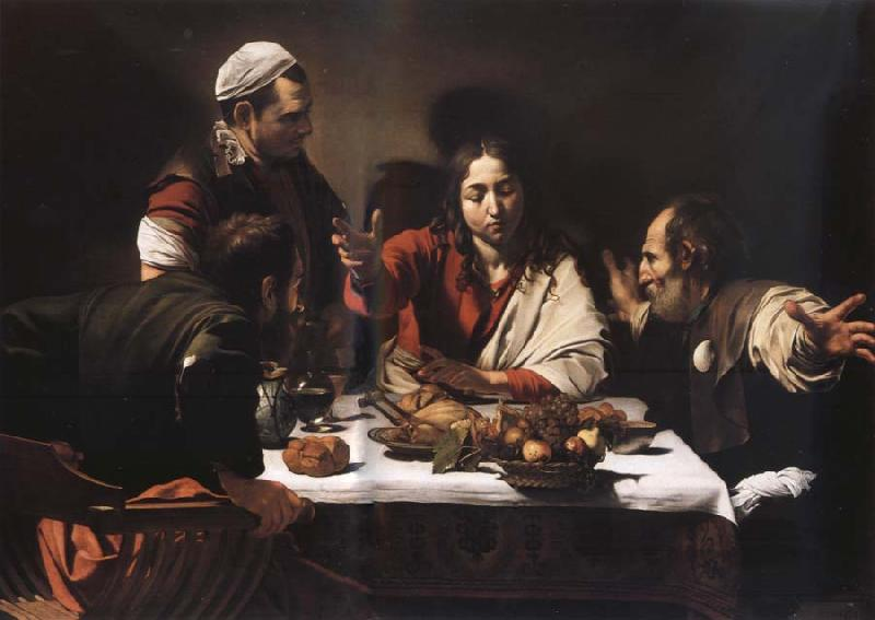 Caravaggio The meal in Emmaus