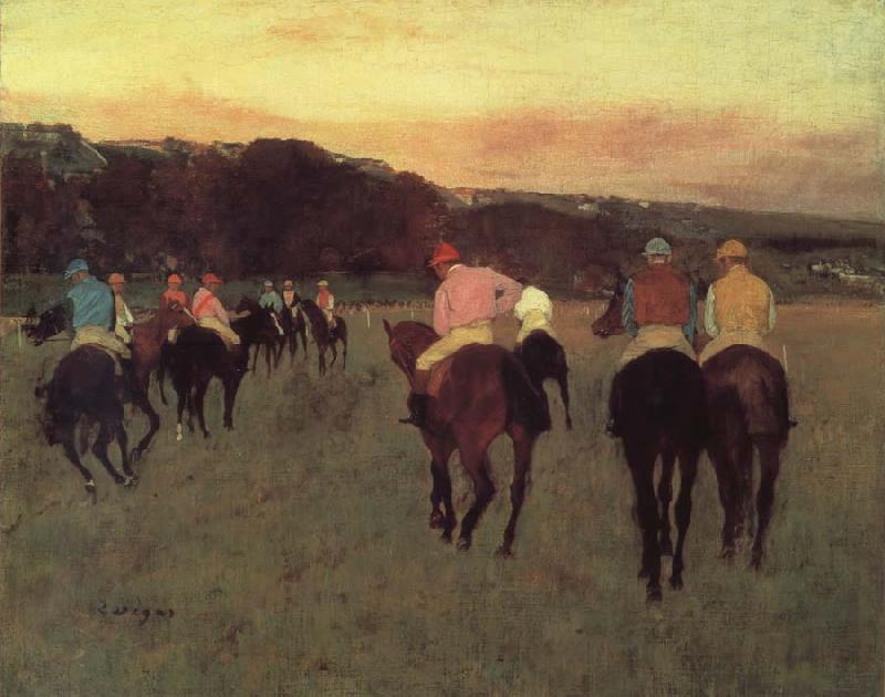 Edgar Degas Race horses in Longchamp