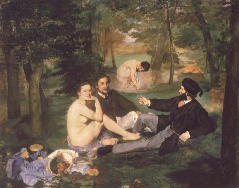Edouard Manet The Fruhstuck in the free