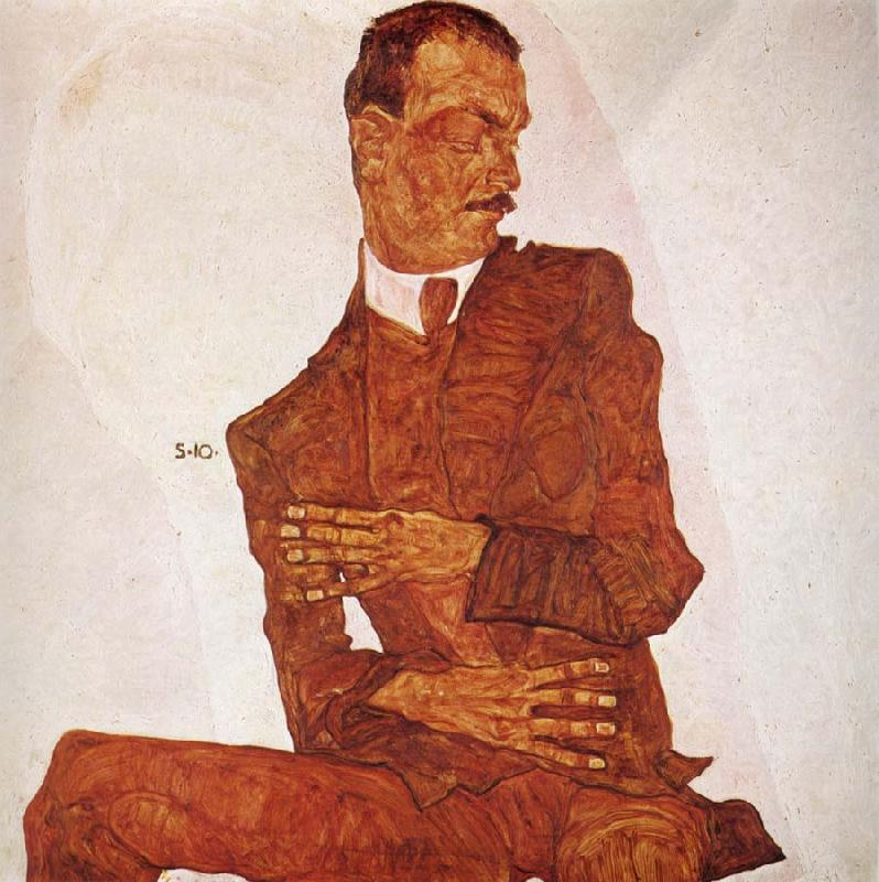 Egon Schiele Portrait of the Art Critic Arthur Roessler