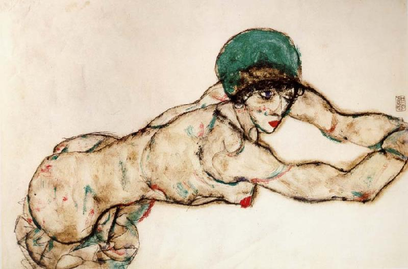 Egon Schiele Female Nude to the Right