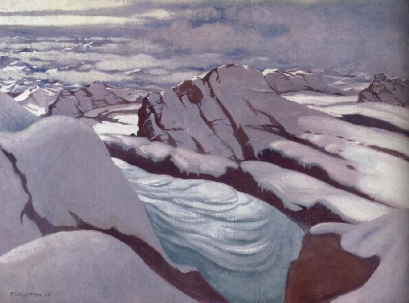 Felix Vallotton High Alps,Glacier and Snowy Peaks