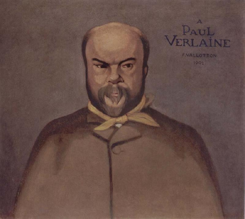 Felix Vallotton Portrait decoratif of Paul Verlaine