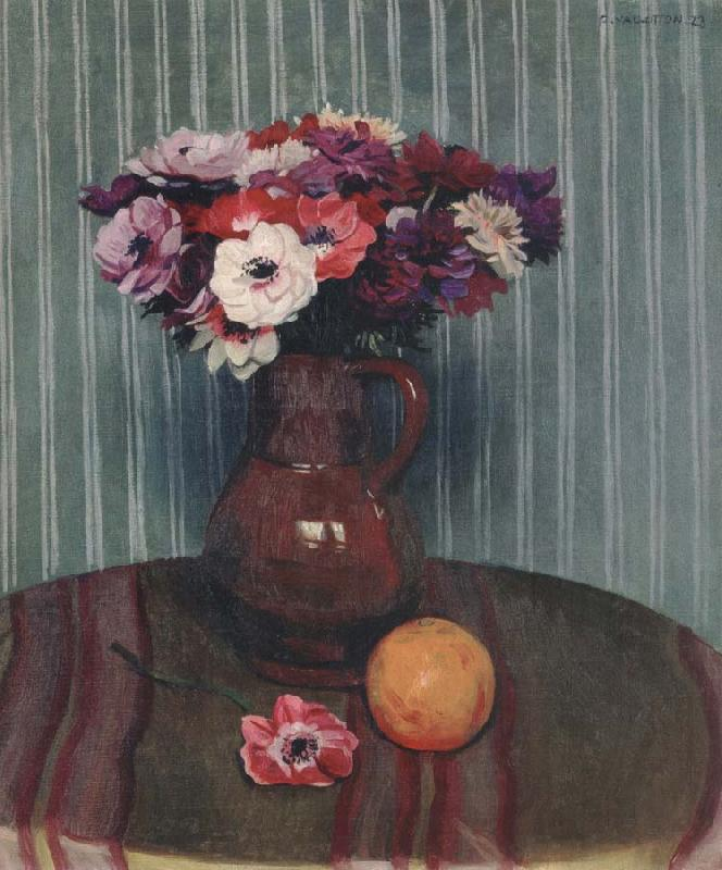 Felix Vallotton Still life with Anemones and Orange