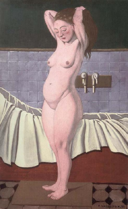Felix Vallotton Woman combing her hair in the bathroom