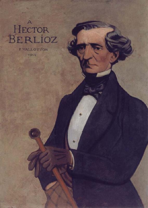 Felix Vallotton Portrait decoratif of Hector Berlioz