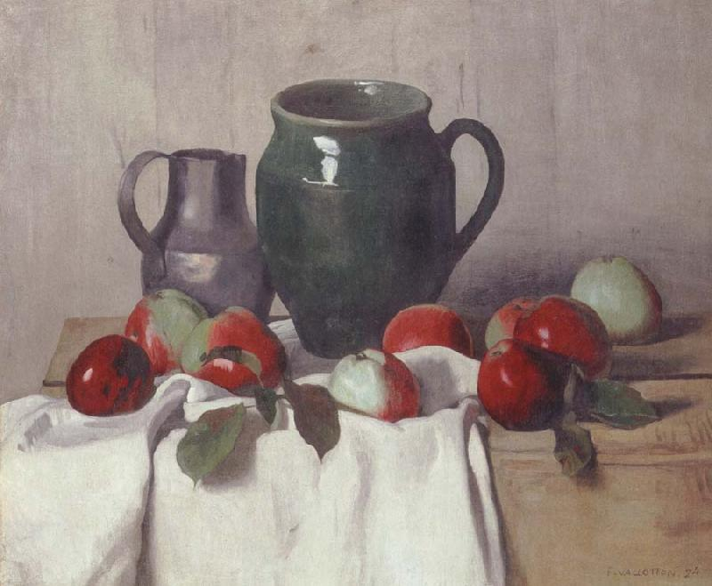 Felix Vallotton Still life with Jug and Apples
