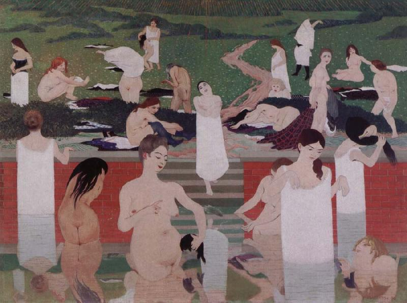 Felix Vallotton Bathing on a Summer Evening