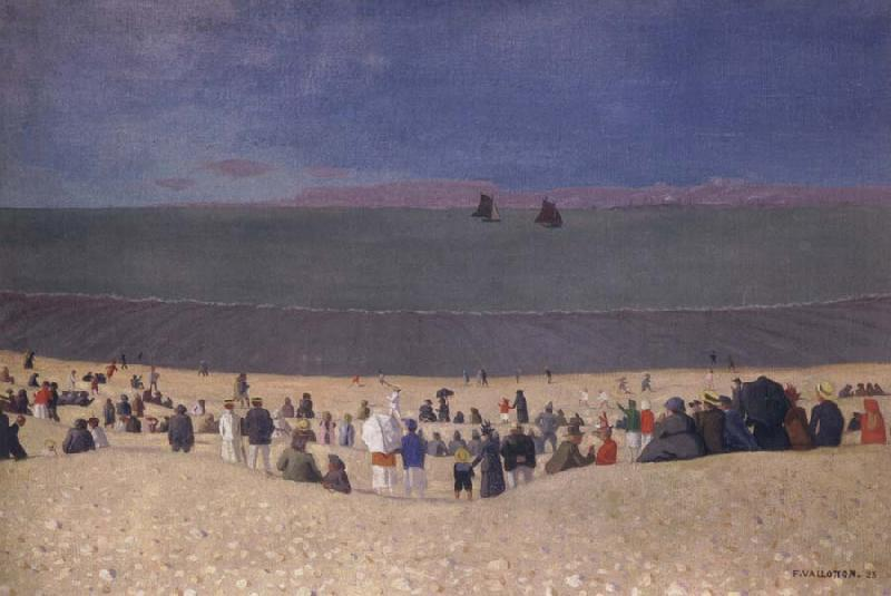 Felix Vallotton The Beach at Honfleur