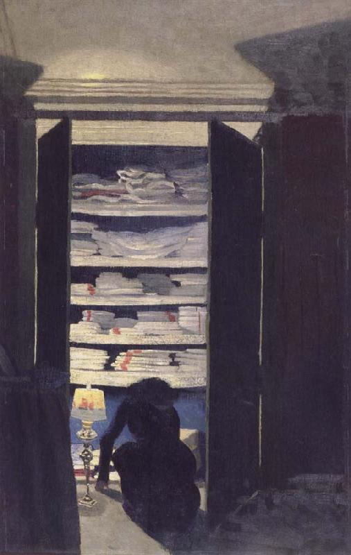 Felix Vallotton Woman Searching through a cupboard